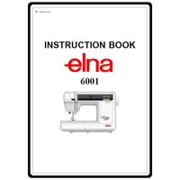 Instruction Manual, Elna 6001