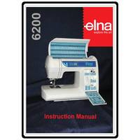 Instruction Manual, Elna 6200