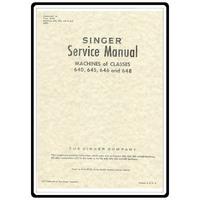 Service Manual, Singer 645