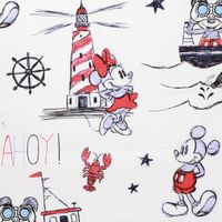 Disney, Ahoy Mickey, Mickey and Minnie Mouse Fabric