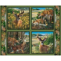 Wild Wings Feast In The Valley, Fabric Pillow Panel