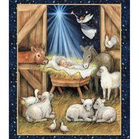Springs Creative, Nativity Barn Fabric Panel