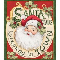 Springs Creative, Retro Santa Claus Fabric Panel