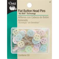 Universal Flat Button Head Pins (50 CT), Dritz #67