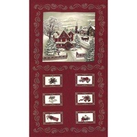 Moda, Once Upon a Memory Fabric Panel - Crimson