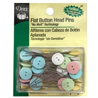Universal Flat Button Head Pins (50 CT), Dritz #67