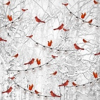 Holiday Wishes, Winter Cardinals Fabric