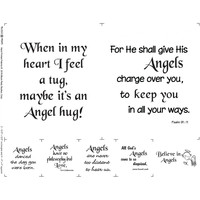 Believe in Angels Inspirational Fabric Panel