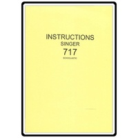 Instruction Manual, Singer 717