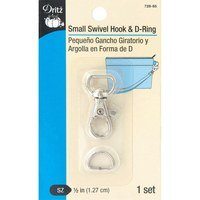 1/2in Swivel Hook and D-Ring Hardware Set - Silver