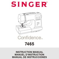 Instruction Manual, Singer 7465 Confidence