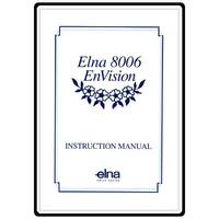 Instruction Manual, Elna 8006 EnVision