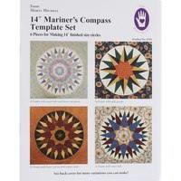 Mariner's Compass 6pc Template and Pattern Set - Marti Michell