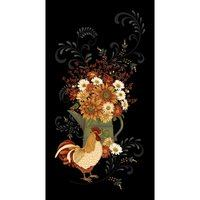 Henry Glass, Plain & Simple, Rooster Fabric Panel