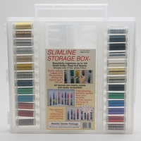 Sulky, Slimline Case with Metallic Thread Starter Collection - 26 Spools