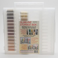 Sulky, Slimline Case with Dark Flesh Tone Thread Collection - 26 Spools