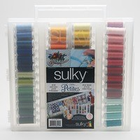 Sulky, Slimline Case with Cotton Petites Thread Dream Collection - 80 Spools