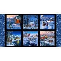Elizabeth's Studio, Country Christmas Fabric Panel