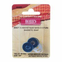 Bohin 3/4in Sew-on Magnetic Snaps (2pk) - Bronze