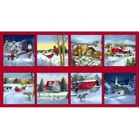 Let it Snow, Winter Blocks Fabric Panel