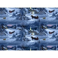 Let it Snow, Winter Horses Fabric
