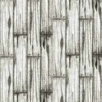 Home on the Range, Wood Paneling Fabric - White