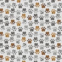 Good Doggie, Paw Print Fabric