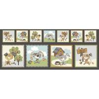 Good Doggie, Puppy Blocks Fabric Panel