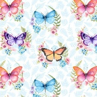 Papillon Parade, Butterfly Fabric - Blue