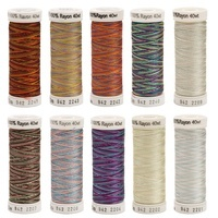 Sulky, Top 10 Variegated 40wt. Rayon Thread Set - 250yds