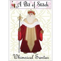 Whimsical Santas Machine Embroidery Design