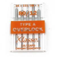 16x231 Overlock Needles, Klasse (5pk), Size 80/12