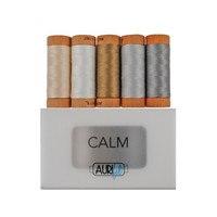 Aurifil, 5 Spool, Calm Thread Collection - 300yds (80wt)