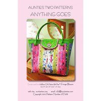 Anything Goes Bag Pattern, Aunties Two Patterns
