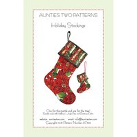 Aunties Two Patterns, Holiday Stockings Pattern