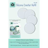 Silicone Coaster Refills - 4pk