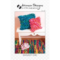 Atkinson Designs, Shaggy Chic Pillow and Rug Pattern