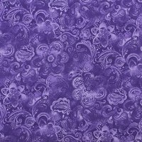 Floral Quilt Backing Fabric 108in, Deep Purple