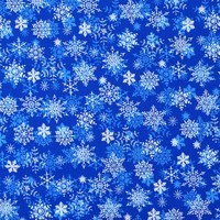 Merry Christmas Basics, Snowflakes Fabric, Blue