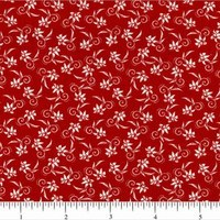 Classic Collection, Mini Florals Fabric, Red