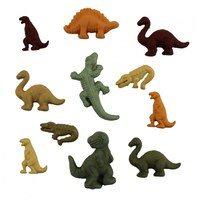Assorted Dinosaur Buttons - 11pk