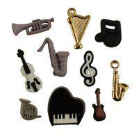 Assorted Musical Instrument Buttons