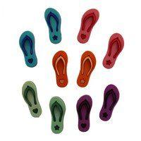 Flip Flop Buttons - 10pk