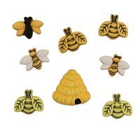 Buzzin Around Bee Buttons