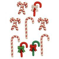 Candy Cane Lane Buttons - 9pk