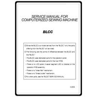 Service Manual, Babylock BLCC Crafter's Choice