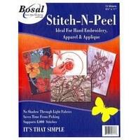 Bosal Stitch-N-Peel Hand Embroidery Stabilizer - 10pk