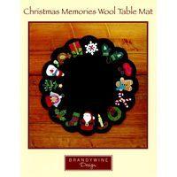 Christmas Memories Wool Table Mat Pattern