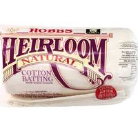 "Hobbs Heirloom Natural Cotton Batting, 120""x 120"" King"