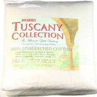 "Hobbs Tuscany Unbleached Cotton Batting, 96""x 108"" Queen"